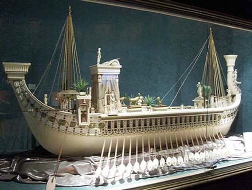 Replica model of Cleopatra's barge
