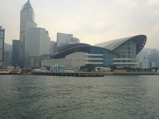 Hong Kong Exhibition Centre - Hotel back left
