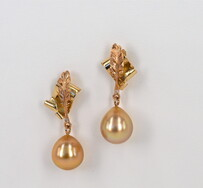 Gold pearl earrings - 'Penned in Gold'