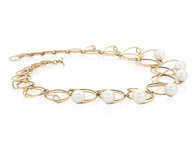 Necklace - Circles of gold with South Sea pearls