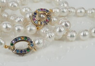Necklace - Two strand of Australian South Sea pearls